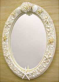 Beach Decor Seashell Mirror | Beachy room | Pinterest ...