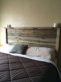 Best 25+ Rustic wood headboard ideas on Pinterest