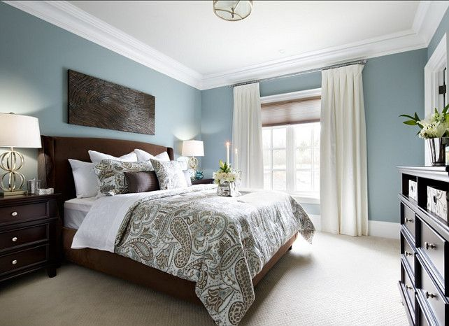 I Like The Headboard And Duvet Combo Colors Calming Benjamin Moore Buxton Blue Relaxing Bedroom Colorspaint