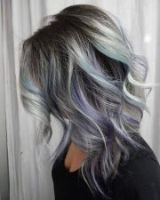grey hair with black lowlights