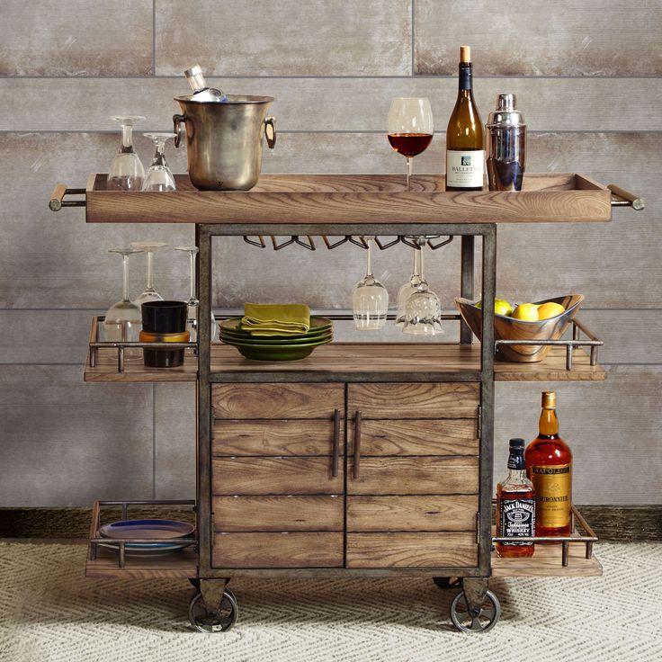 17 Best ideas about Rolling Bar Cart on Pinterest