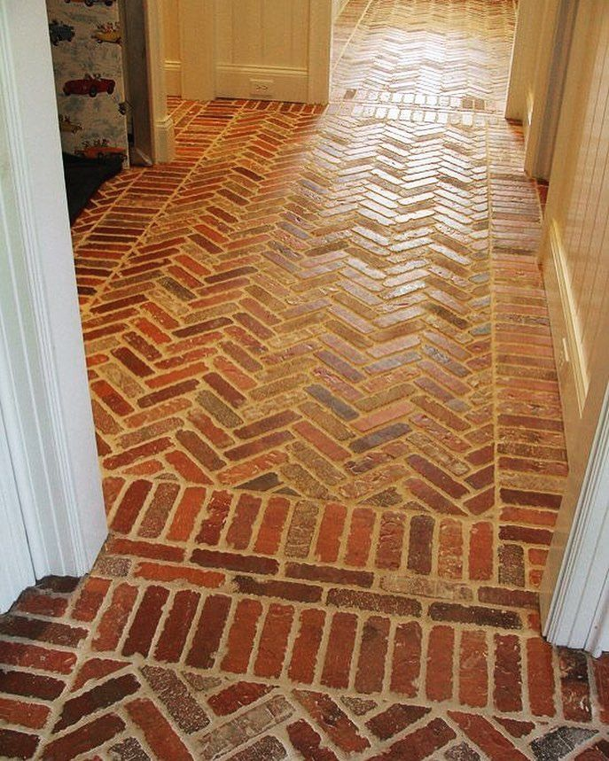25 best ideas about Brick tile floor on Pinterest  Brick floor kitchen Entryway flooring and