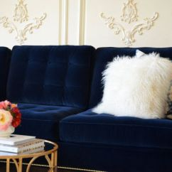 Blue Velvet Living Room Chairs Picture Of Interior Design Tufted Sofa. I'm Drooling | Interiors ...