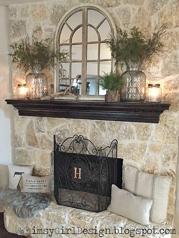 25 best ideas about Black Fireplace Mantels on Pinterest