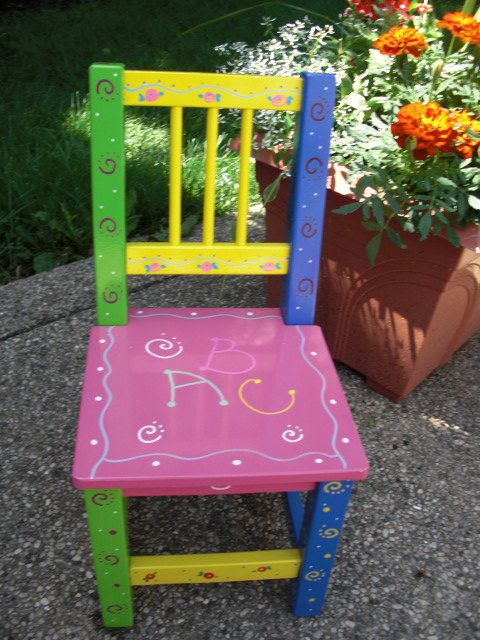 x rocker desk chair high quality office chairs ergonomic 25+ best ideas about painted kids on pinterest | chairs, hand stools and ...