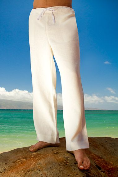 Ivory Linen Riviera Pant  Ivory and Destination wedding