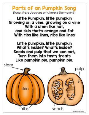 Parts of a Pumpkin Free Printable | Pumpkins, the