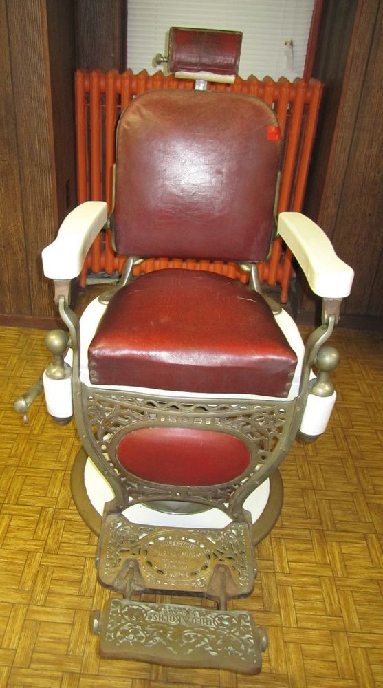 koken barber chair ergonomic guidelines theo a. kochs antique vintage porcelain red circa 1920's great | vintage, antiques ...