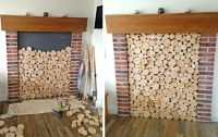 Staggered Log Tiles / log wall tiles / feature log tiles ...