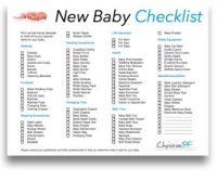 Baby checklist, New baby checklist and Newborn babies on ...