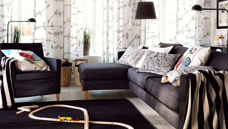 IKEA sterreich Inspiration Wohnzimmer KARLSTAD 3erSofa und Rcamiere und KARLSTAD Sessel