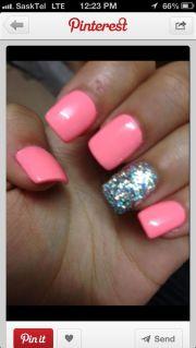 pink gel nails ladycures