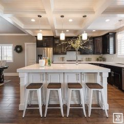 Open Plan Kitchen Living Room Design Ideas Pictures Of Well Decorated Rooms Elegant With Coffered Ceilings Tongue And ...