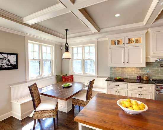 kitchen nooks for sale ideas cabinets revere pewter paint color. white cabinets, blue subway ...