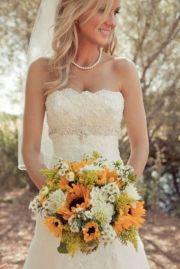 sunflowers country wedding