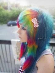 scene rainbow hair emo punk girl