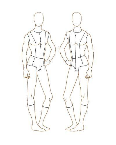 printable fashion design templates for men Male Fashion