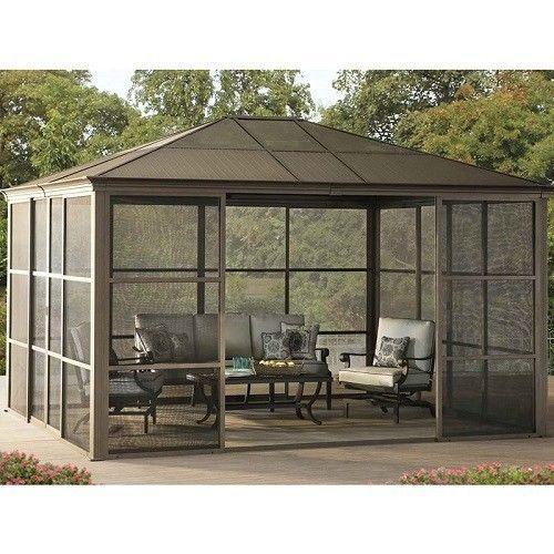 Outdoor Garden Summerhouse 12 FT X 14 FT Gazebo Solarium