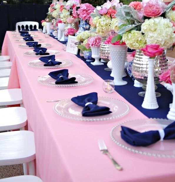 love the milk glass centerpieces  flower power