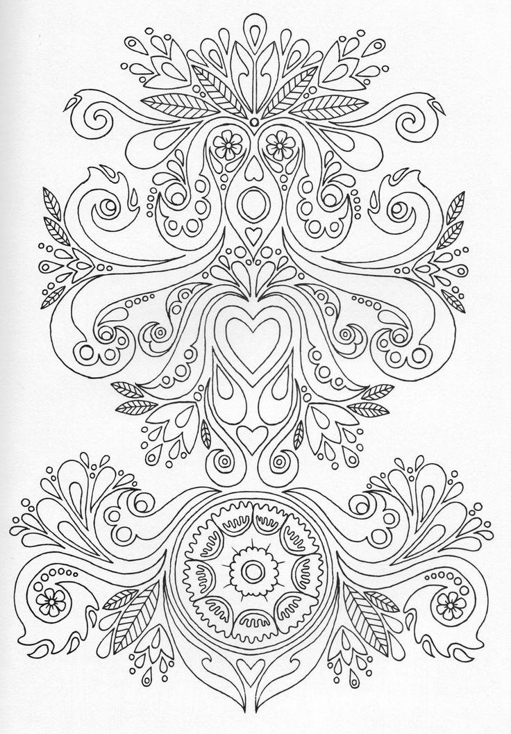 Scandinavian Coloring Book Pg 7 Color Pages Stencils