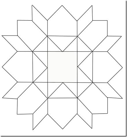 Crazy Quilt Block Pattern Sketch Coloring Page