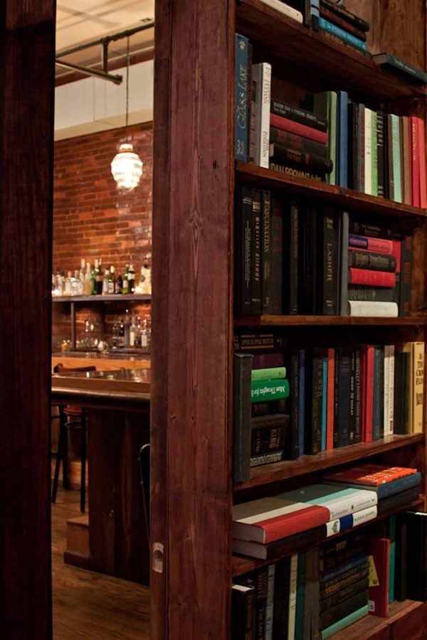 Behind The Bookcase A Look At Edgewood Speakeasy