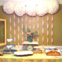 Baby shower backdrop for a Tablescape