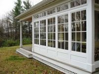 Deck screened porch 3 4 season sunroom houzz, We wrestled ...