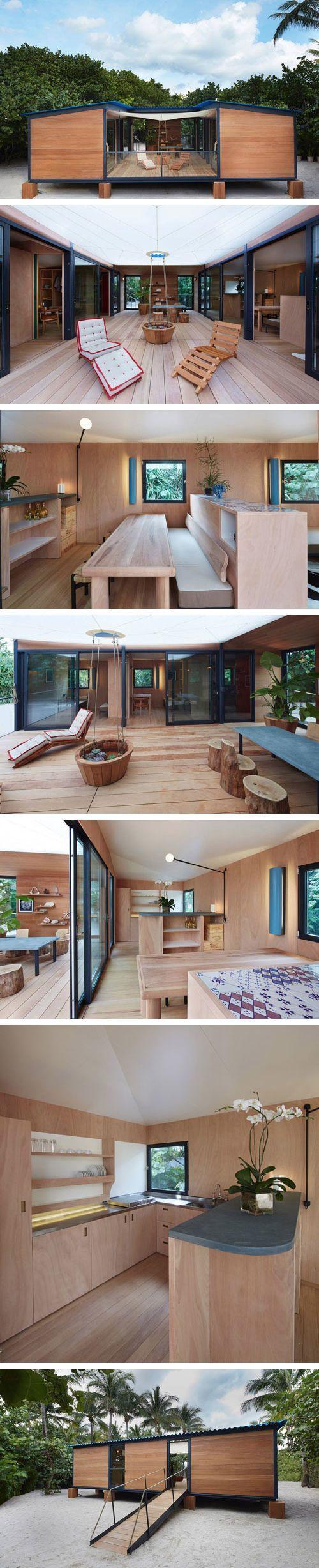 Charlotte Perriand La Maison au Bord de l'Eau. Rebuilt for Art Basel Miami Beach with LVs support