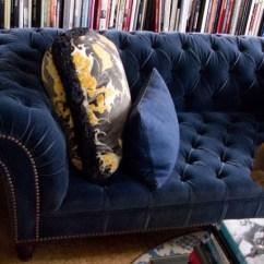 Chesterfield Sofa Living Room Ideas Leather Sectional Brands Navy Blue Velvet   Furniture We Love ...