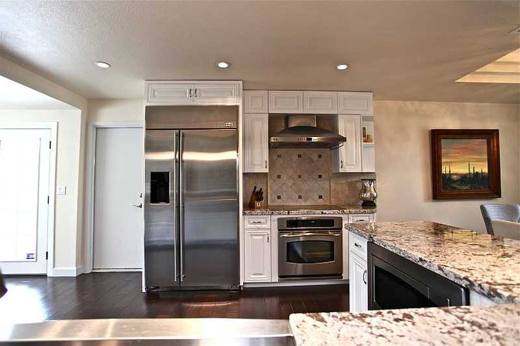 Stainless Steel Appliances, Granite Countertops, White