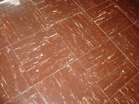 Brown asbestos floor tile httpwww