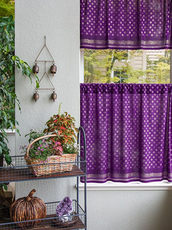 how to decorate large living room windows design for studio apartment the 25+ best purple kitchen curtains ideas on pinterest ...