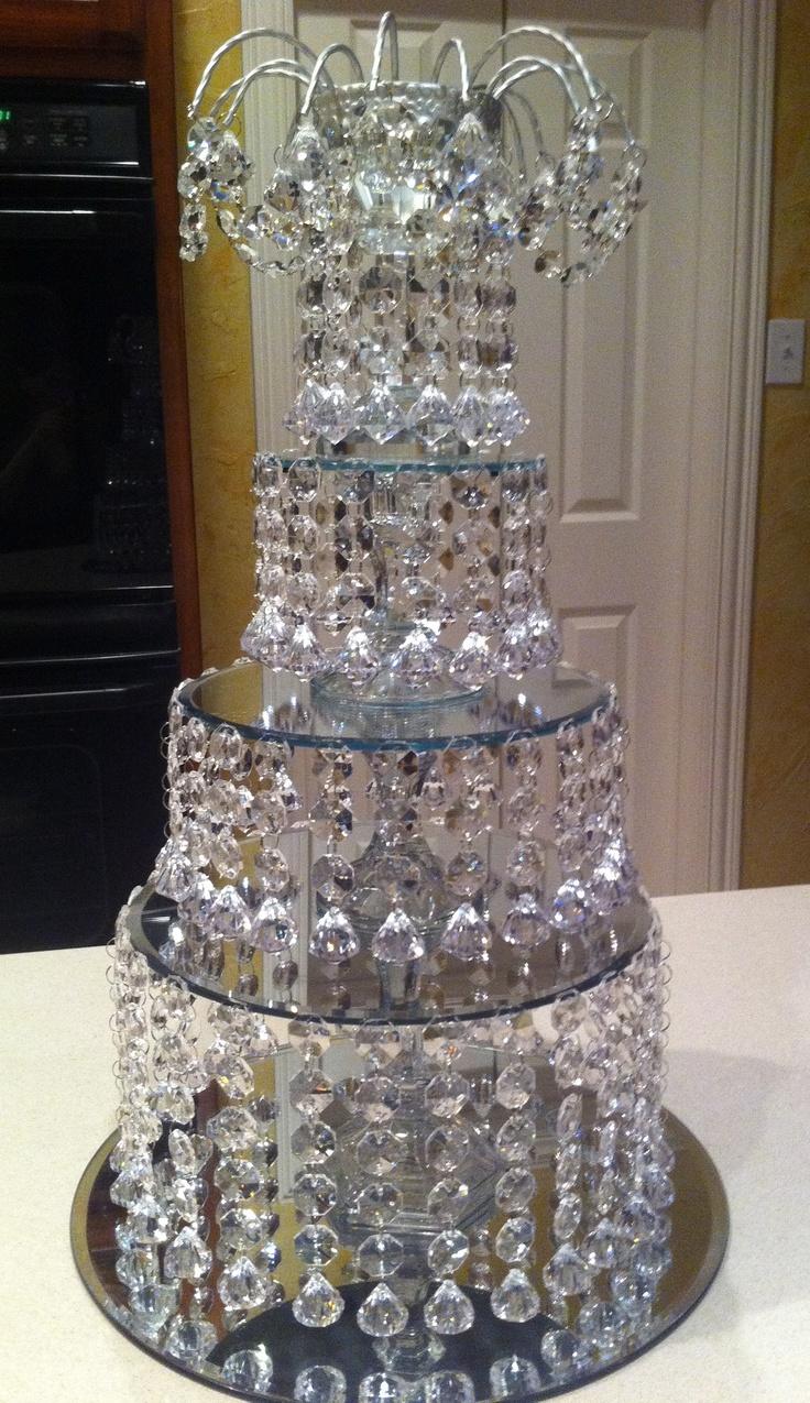 DIY Crystal Wedding Centerpiece  Bling Bling  Pinterest  Wedding Crystal wedding and Wouldnt