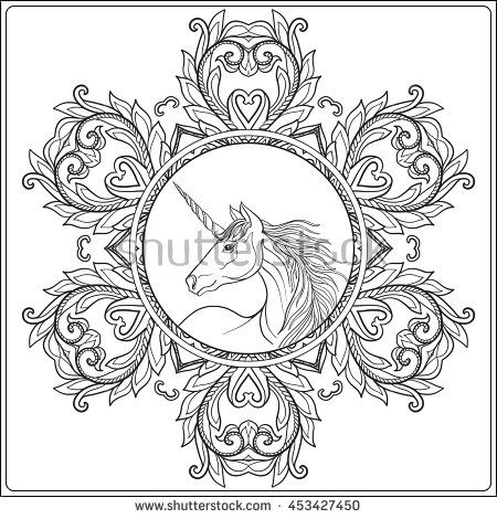 194 best unicorn coloring pages images on Pinterest