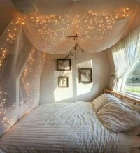 25+ best ideas about Bed Canopy Lights on Pinterest | Dorm ...
