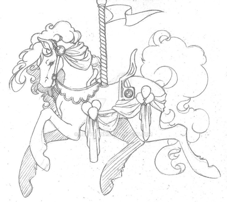 246 best images about LineArt: Carousel Animals on