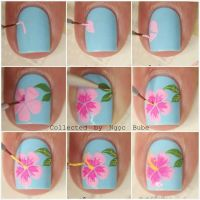 Best 20+ Hibiscus nail art ideas on Pinterest   Tropical ...