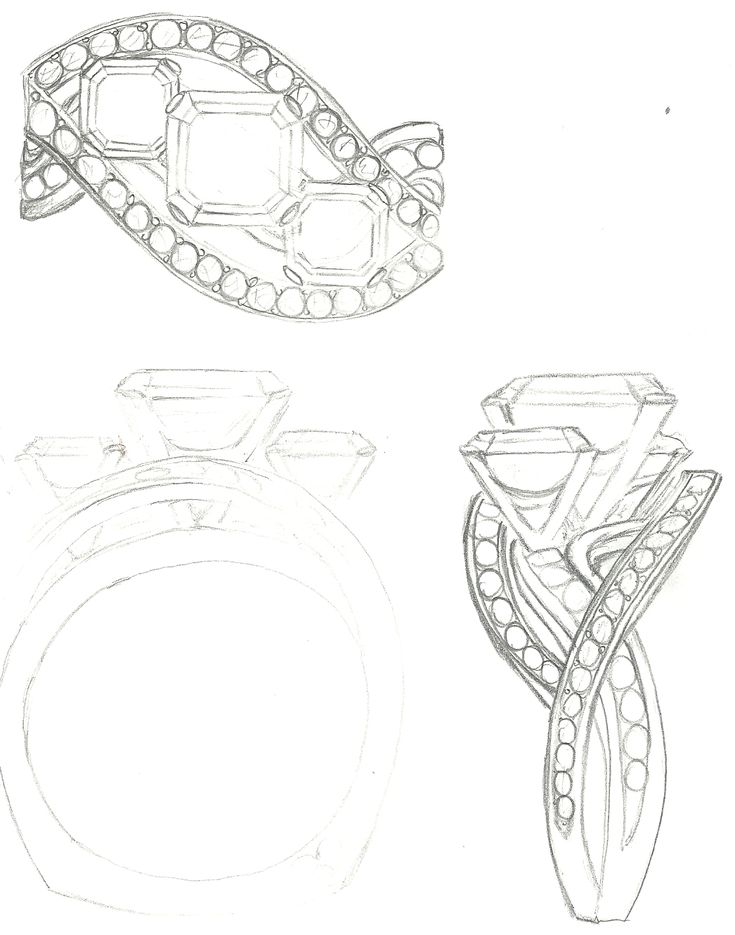 137 best images about Jewelry Sketches on Pinterest