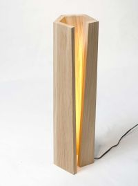 elagone lamp ~ could work...right color of wood and cool ...