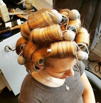 17 best images about perm and roller wraps on pinterest stylists curly perm and pin curls