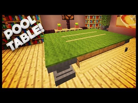 Minecraft  How To Build A Pool Table  httppooltabletodaycomminecrafthowtobuildapool