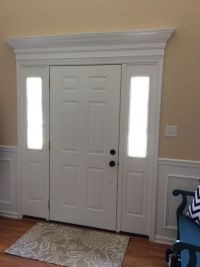 We added trim & molding above our front door and it made ...