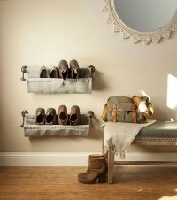 1000+ ideas about Wall Mounted Shoe Rack on Pinterest
