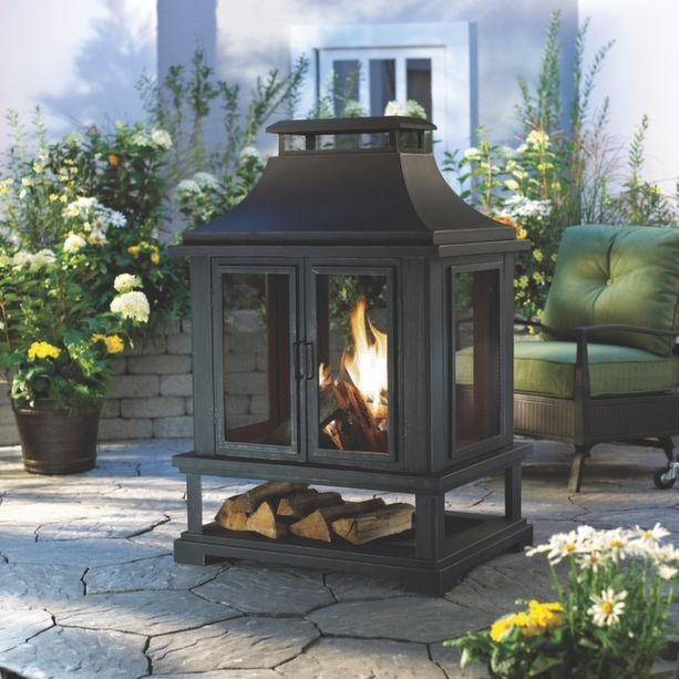1000 images about Foyer extrieur on Pinterest  Faux stone Patio fireplace and Shopping