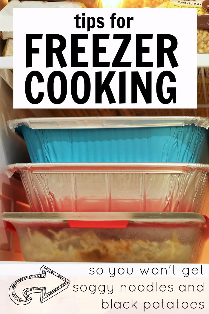 Tips for Freezer Cooking so You Wont Get Soggy Noodles and Black Potatoes | Life as Mom