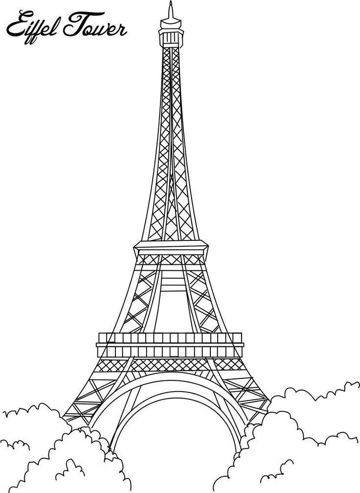 25+ beste ideeën over Eiffeltoren tekening op Pinterest