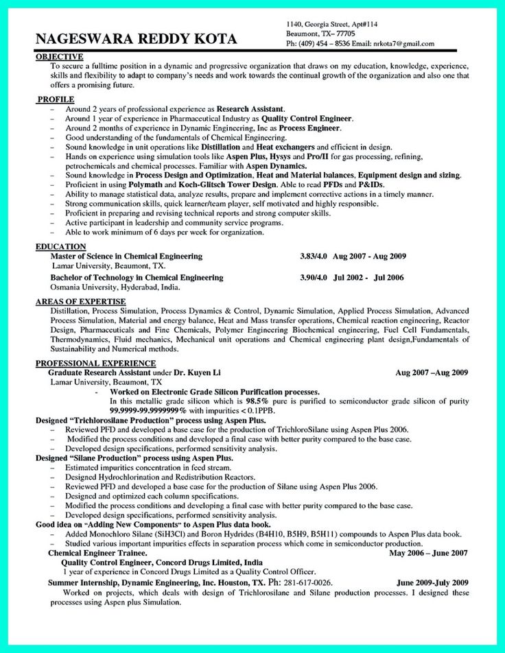 Order Processing Resume
