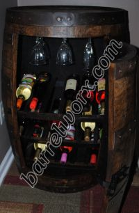 How To Make A Whiskey Barrel Liquor Cabinet - WoodWorking ...