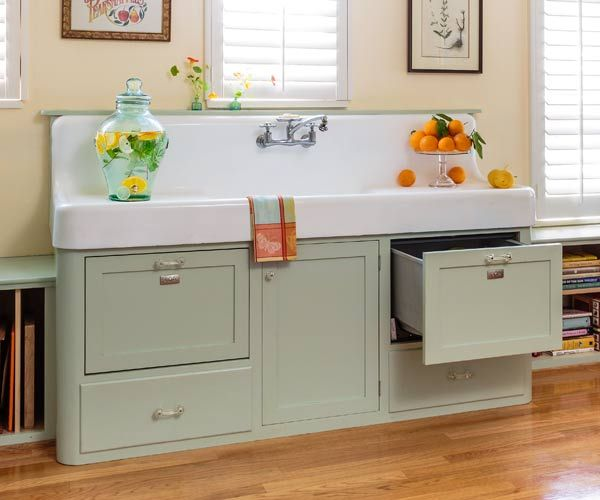 Retro Kitchen Redo Green Cabinets Retro Style And